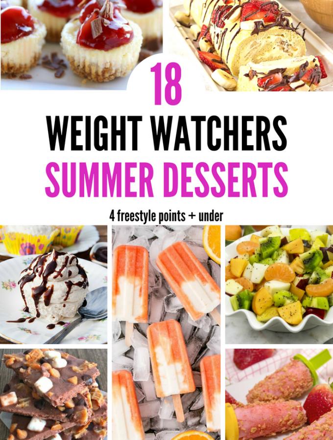 18 Weight Watchers Summer Desserts – 4 Freestyle Points + under Pinterest