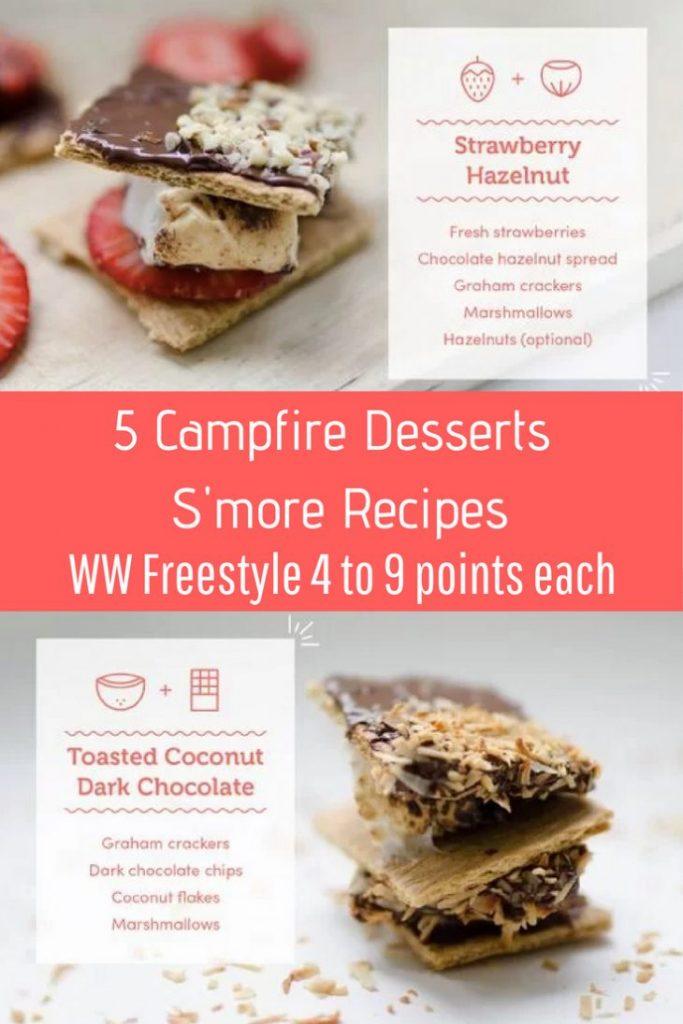 5 Campfire Desserts S'more Recipes