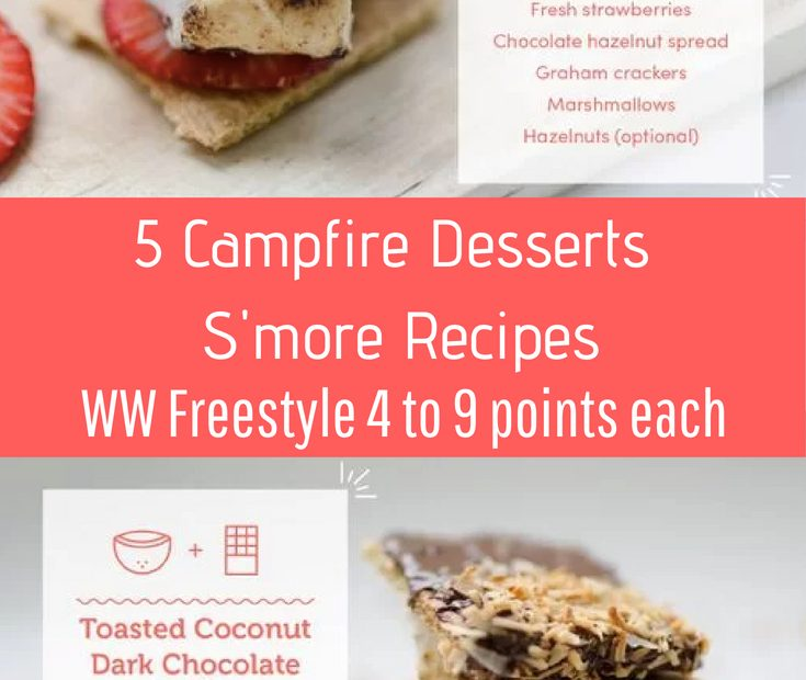 5 Easy Campfire Desserts with Weight Watcher Points