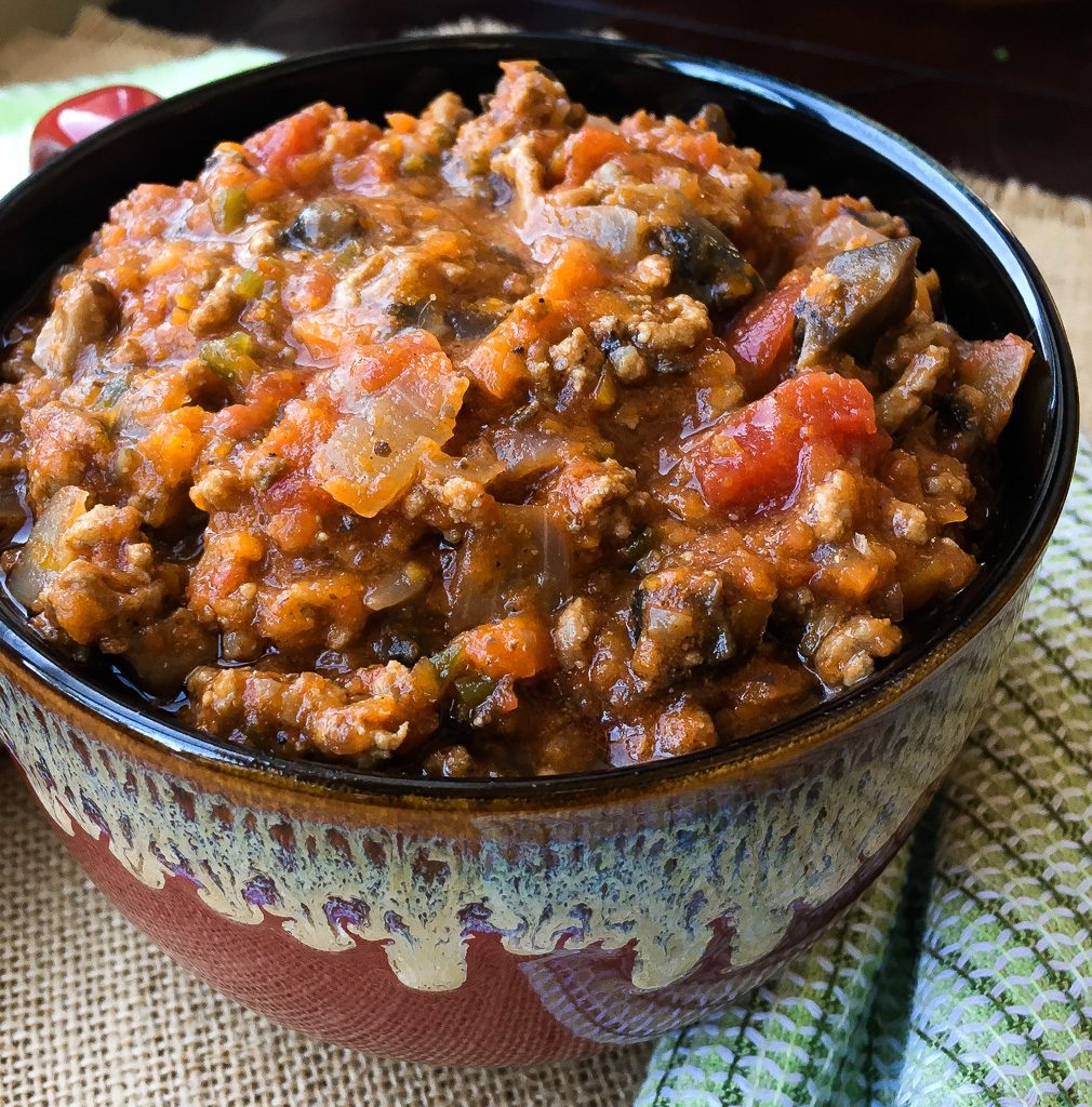 Beef and Mushroom Chili