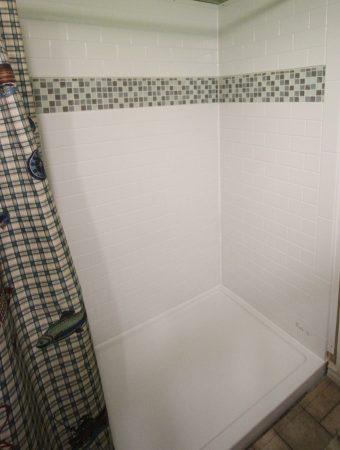 bathroom shower remodel finished