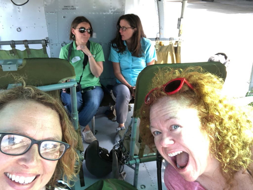 Because the Sky Solider volunteers left us in the Huey Helicopter unattended for a few minutes so the hi-jinx ensued.