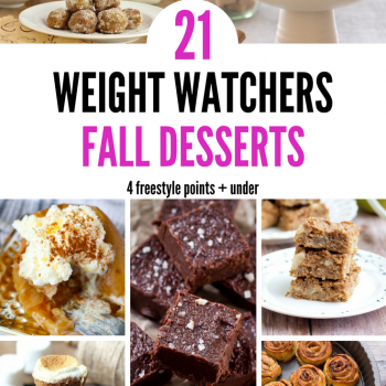 Enjoy these 21 Weight Watchers Fall Desserts that come in at 4 Freestyle Points + under. Enjoy the things you love without going over your daily points. I love that the Weight Watchers freestyle plan lets me enjoy all my favorite things while still losing weight.