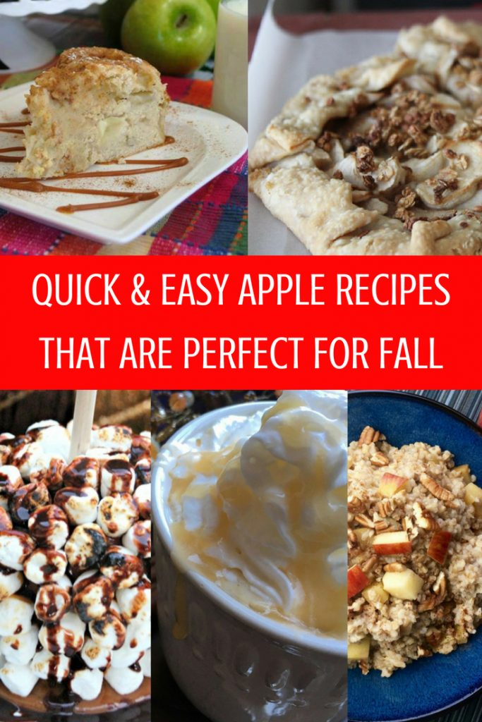 One of the best things about fall is all the delicious apples available. Of course, apples means it's time to make some quick and easy apple recipes. Click here to see some of our favorites!