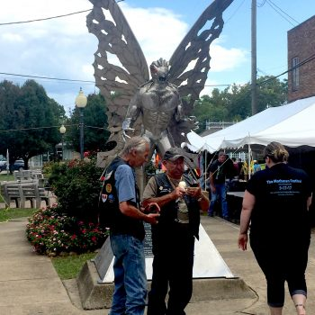 The Mothman Festival is an annual event held each September in Point Pleasant WV to commemorate the events that led to the birth of the infamous red-eyed, winged legend. The festival takes place over two days and include vendors, guest speakers, music, cosplay, tours and more.