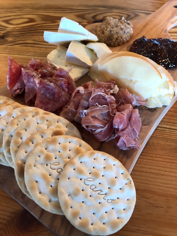 charcuterie tray at Mission Point Resort restaurant on mackinac island