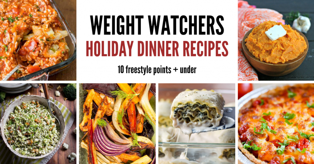 weight watchers holiday dinner recipes