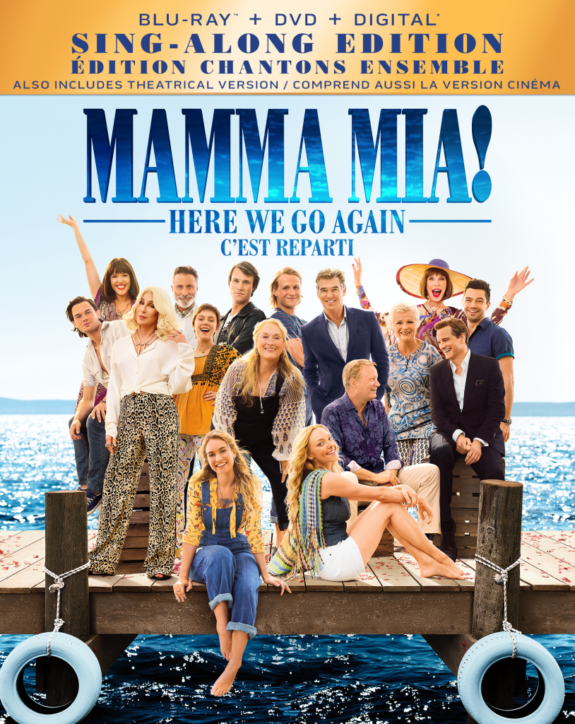 Mamma Mia Here we go again is out of DVD/BLUERAY. Be sure to enter to win a copy of this sing along edition for musical fun all year long!