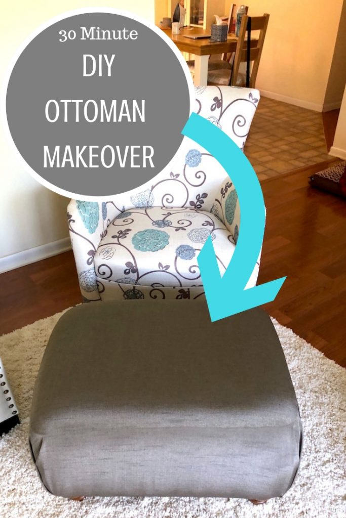30 minute Ottoman Makeover