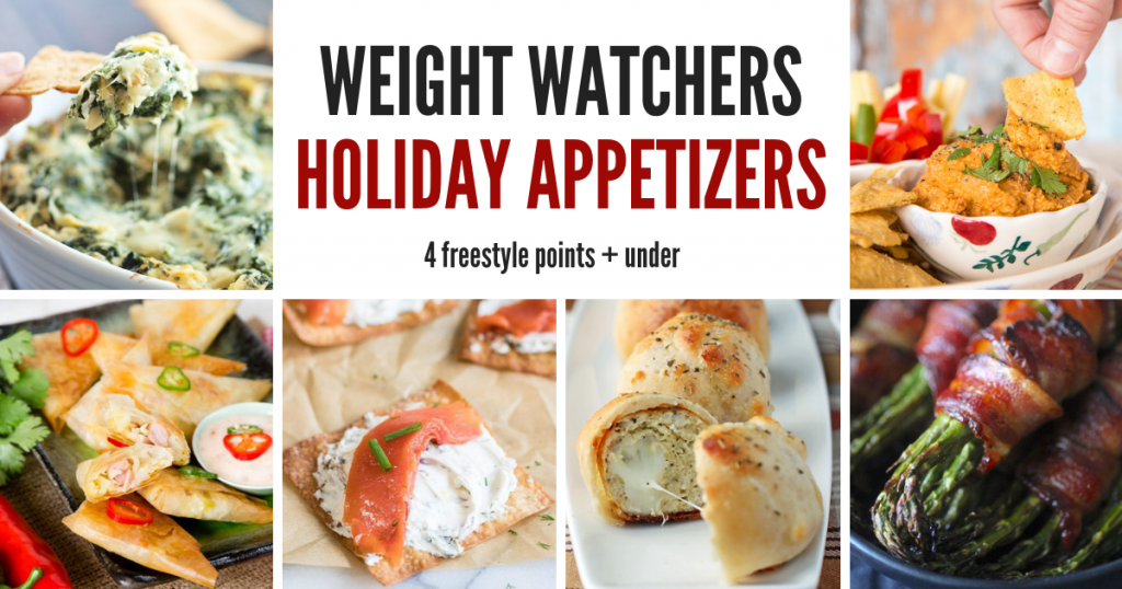 20 Weight Watchers Holiday Appetizers that will help keep you on your points track this holiday season. These 20 tasty treats are sure to be a party pleaser for all your guests