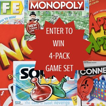 ENTER TO WIN 4-PACK GAME SET