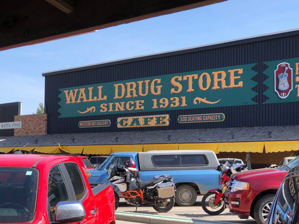 front of wall drug store in wall, south dakota