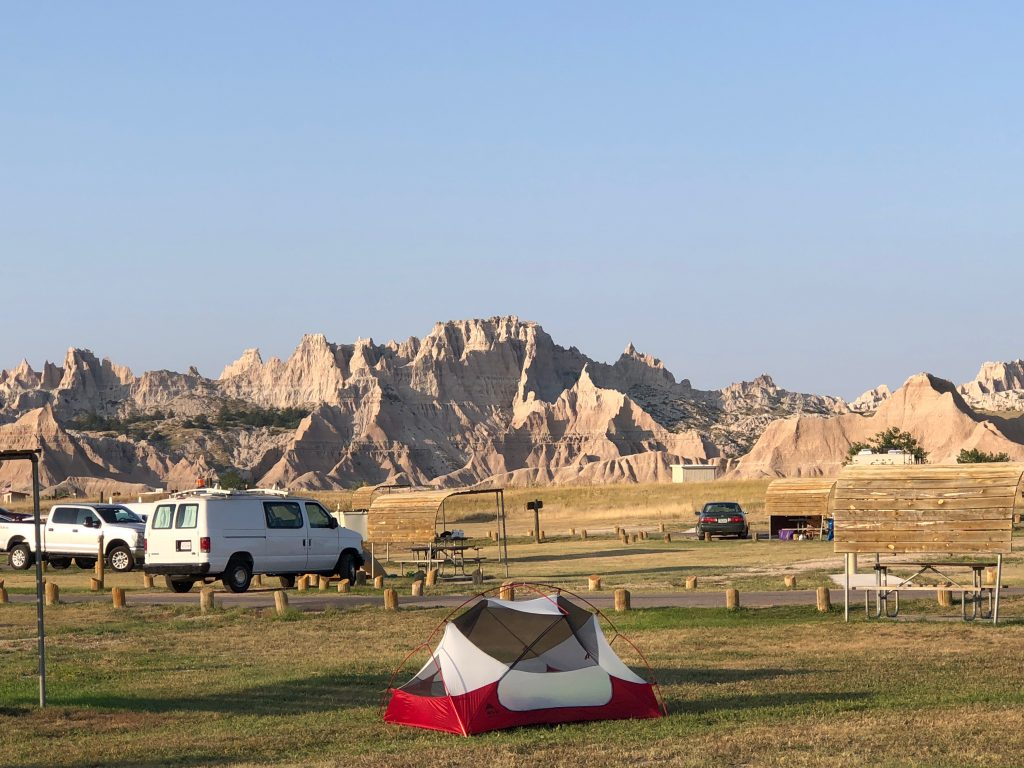 campground at badlands national Park