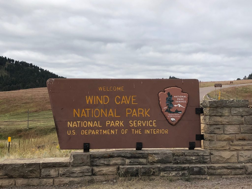 Rapid City Wind Cave Entrance National Park Sign