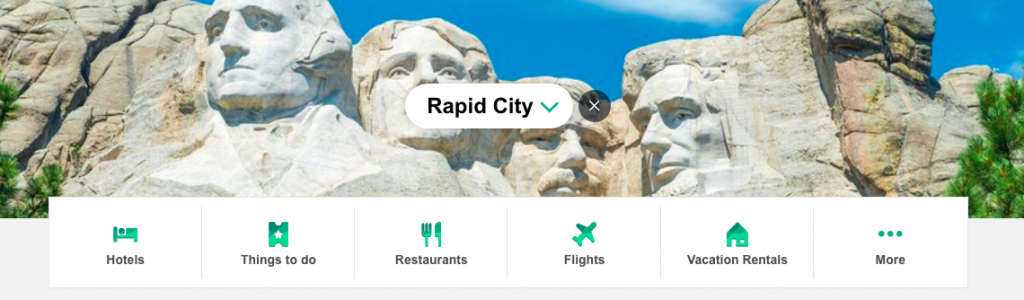 trip advisor screenshot for rapid city sd