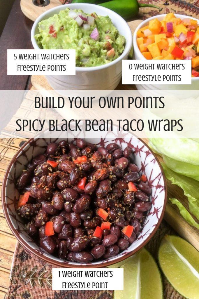 Spicy Black Bean Taco Wraps