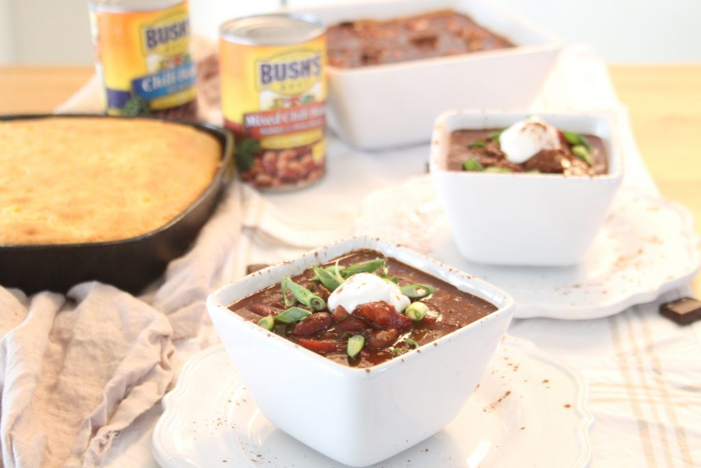 Sweet and Spicy Chili Recipe made with Bush's Beans