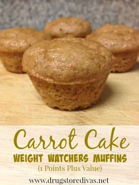 Carrot Cake Weight Watchers Muffins (1 Points Plus Value or 1.5 Freestyle Points)