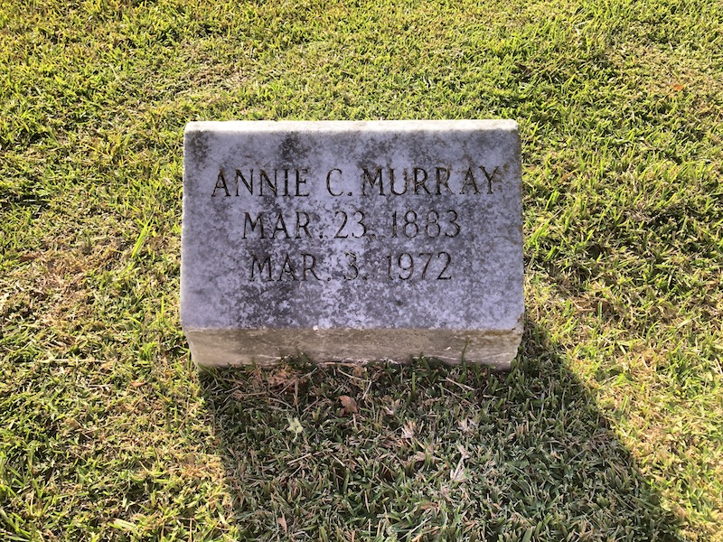 Annie Murray Tombsone
