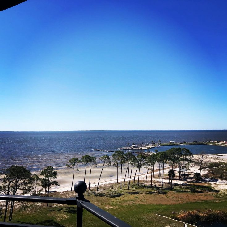 from the top of cape san blas lighthouse