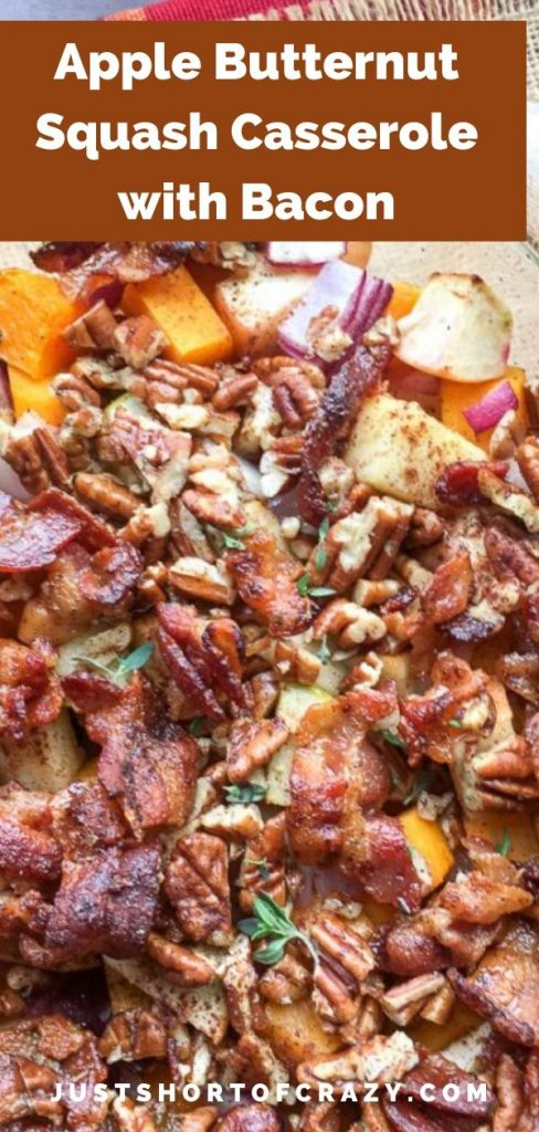 Apple Butternut Squash Casserole with Bacon