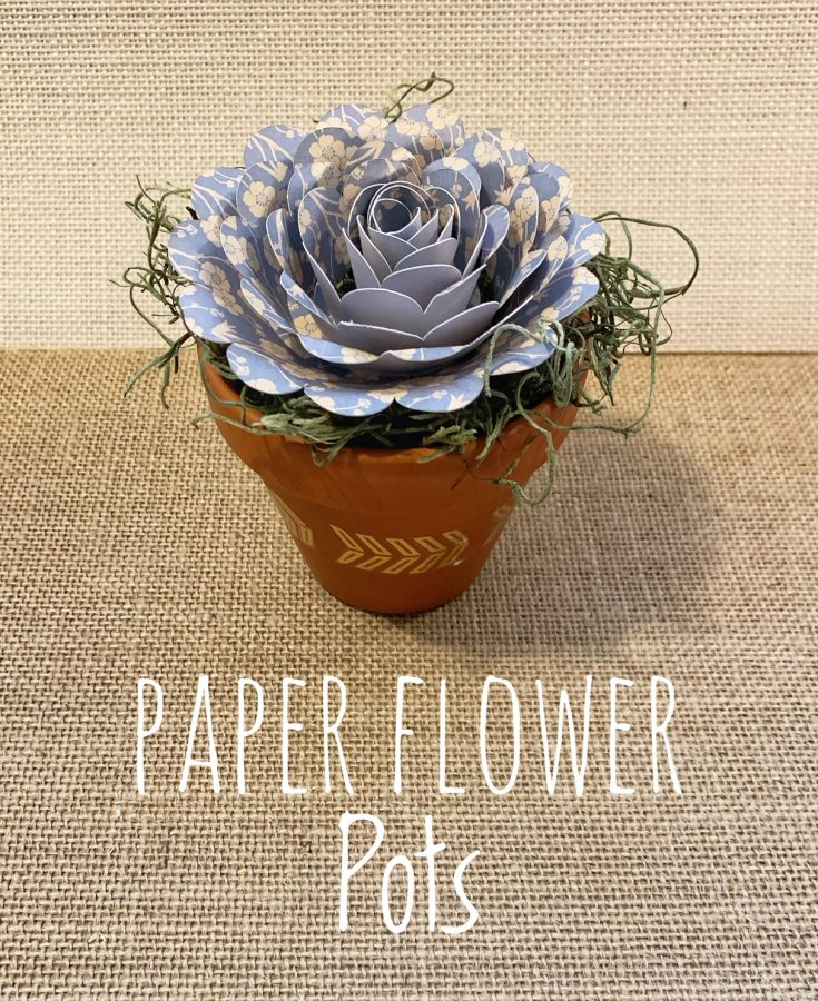 Mini Spring Flower Pots With Paper Flowers - Free Classes To Learn!