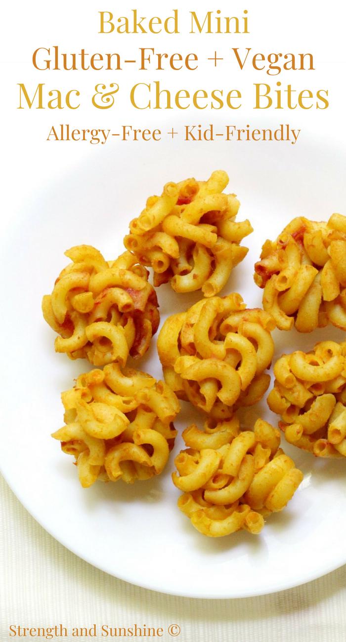 Baked Mini Gluten-Free + Vegan Mac & Cheese Bites (Allergy-Free)