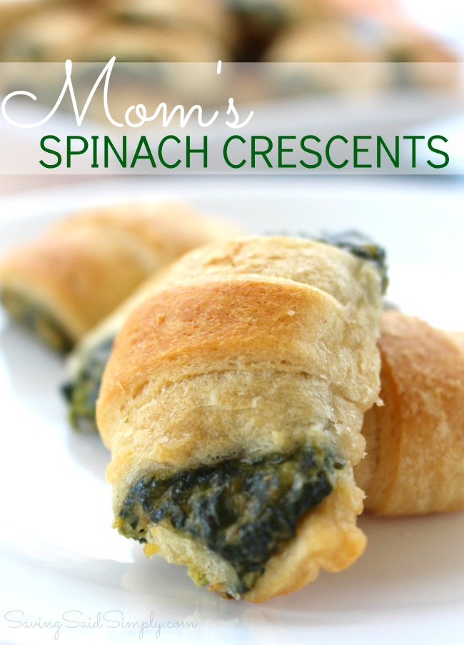 Best Spinach Appetizer Recipe | Mom's Spinach Crescents