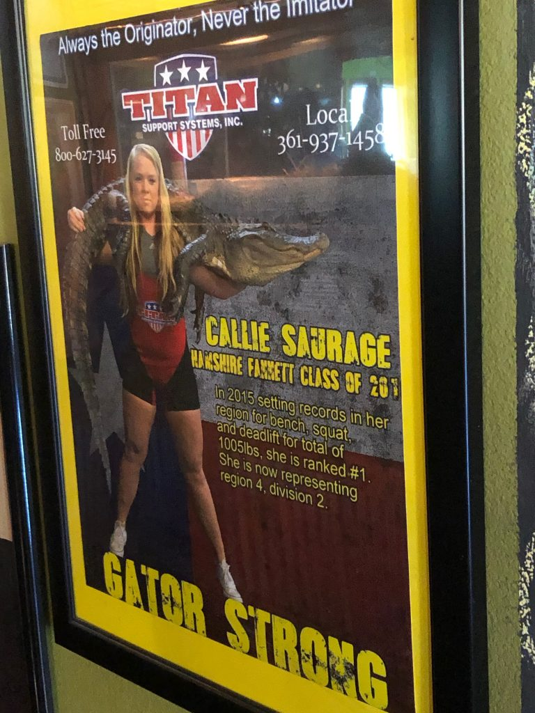Callie Saurage from Gator Country magazine cover