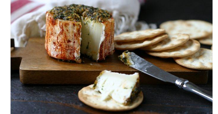 Marinated Caña de Cabra (Spanish Goat Cheese)