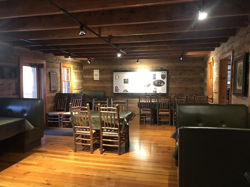 inside the Carmichael Inn Dining Room