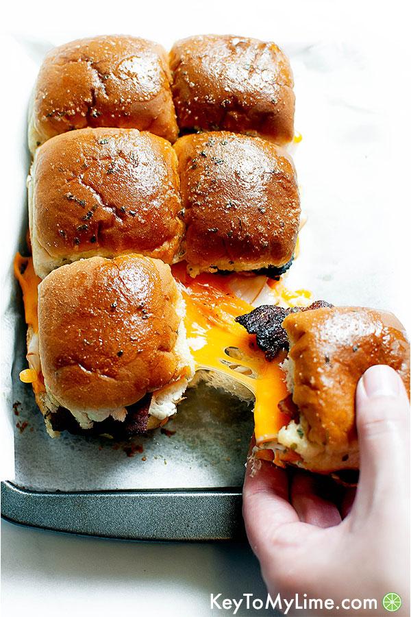 Chicken Bacon Ranch Sandwich Sliders