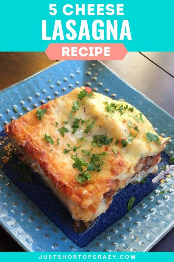 easy 5 cheese lasagna