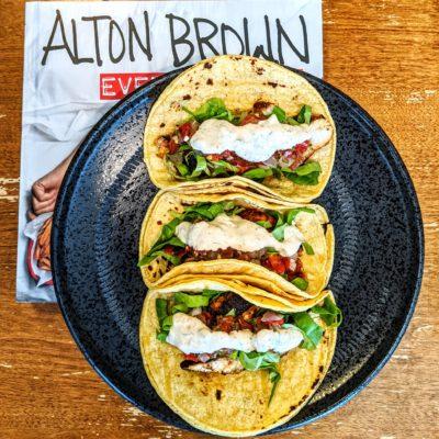 Alton Brown Blackened Fish Tacos