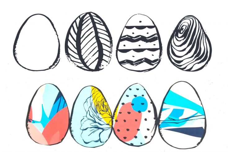Printable Easter Egg Coloring Pages & Window Designs