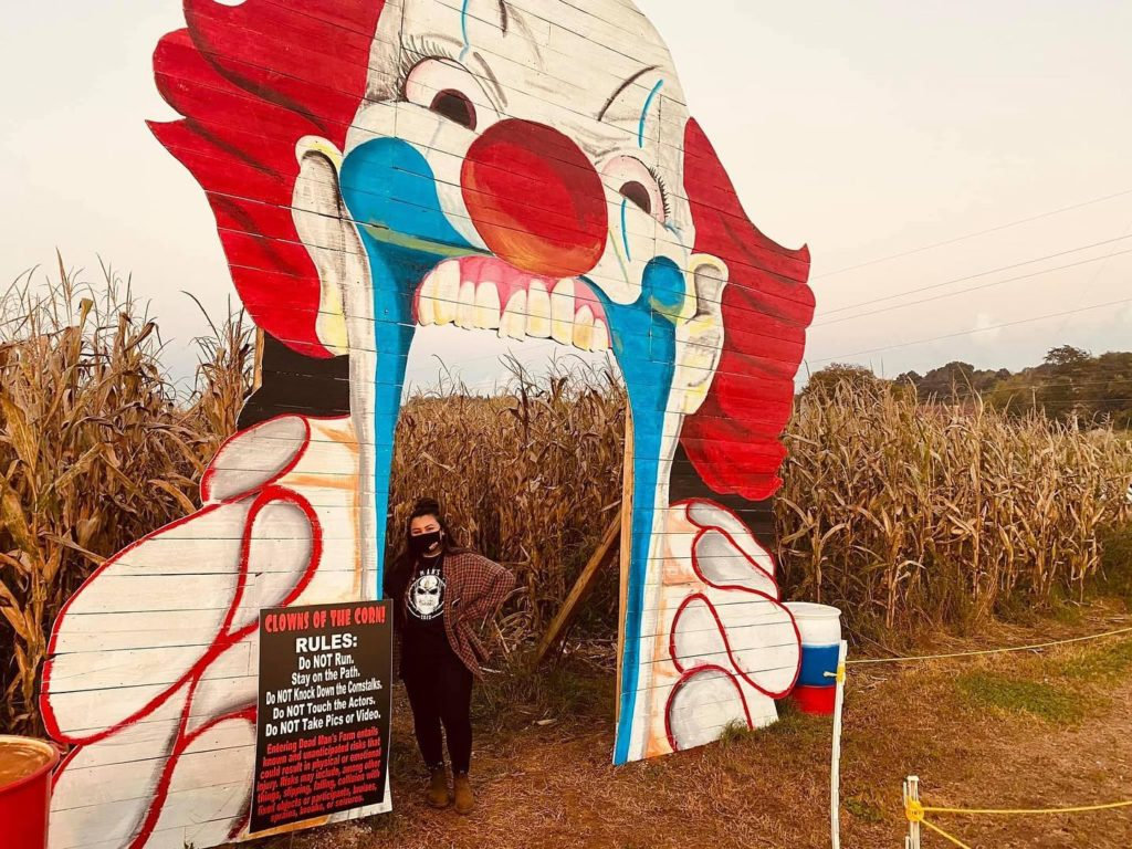Entrance to the Haunted Corn Maze at Dead Man's Farm