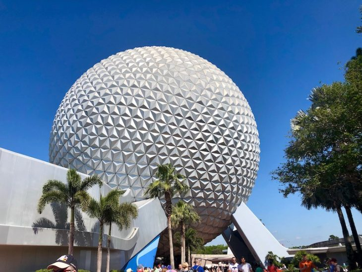 The iconic symbol of Epcot at Walt Disney World in Orlando