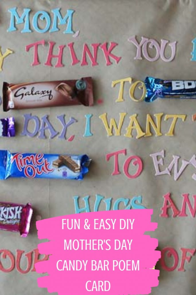 FUN & EASY DIY MOTHER'S DAY CANDY BAR POEM CARD
