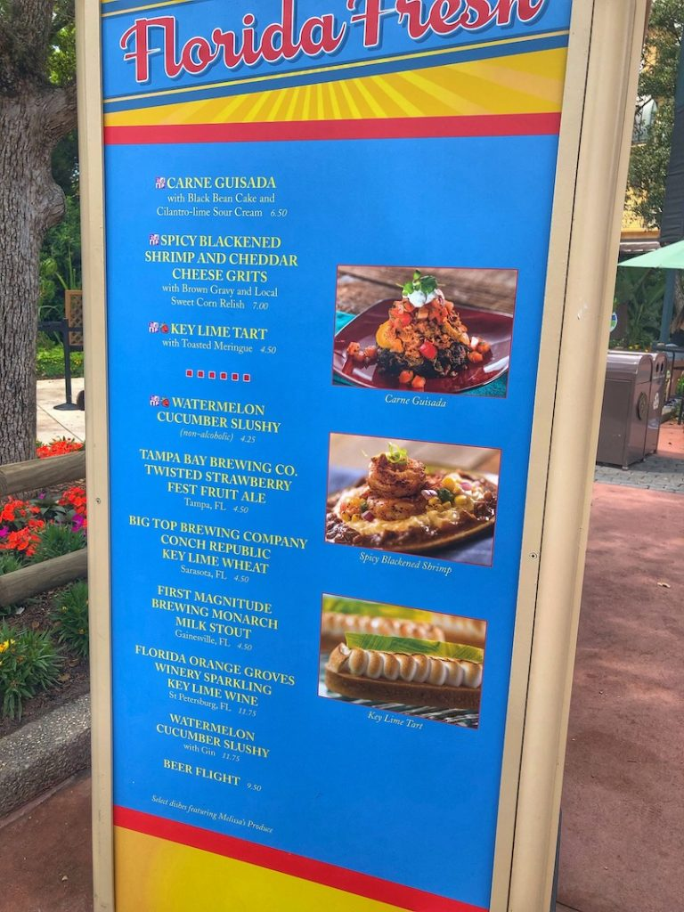 Florida Fresh Outdoor Kitchen Menu