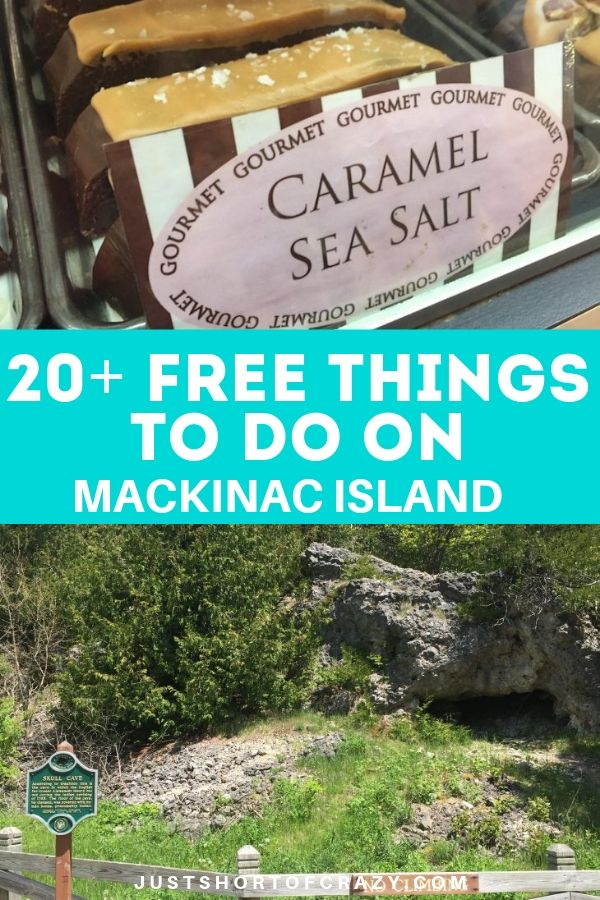 20 free things to do on mackinac island including skull cave and trying fudge