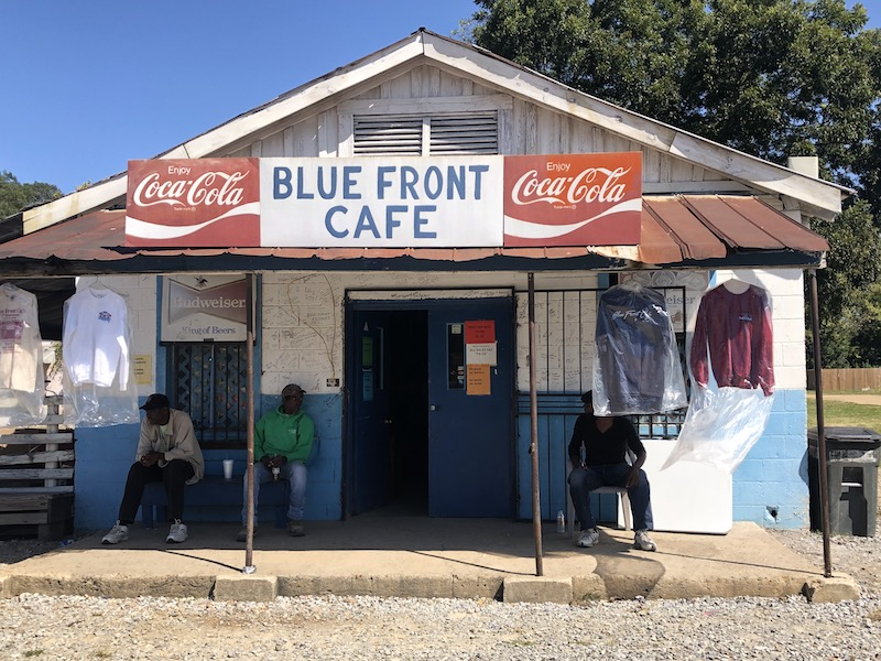 Front of the Blue Front Cafe