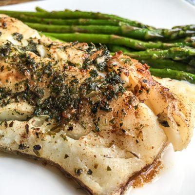 garlic herb butter cod
