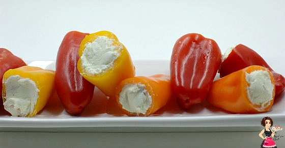 Bacon and Goat Cheese Stuffed Mini Peppers