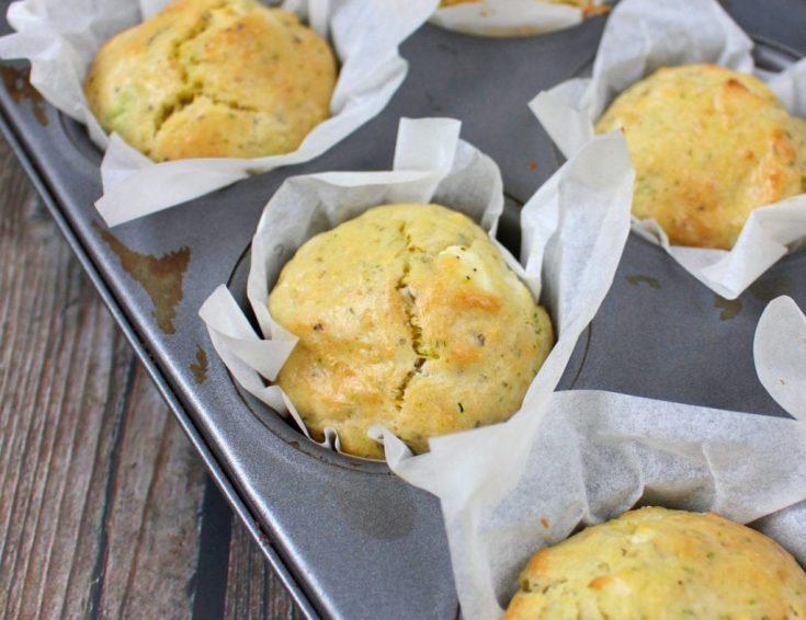 Healthy Zucchini Muffins with Goat's Cheese