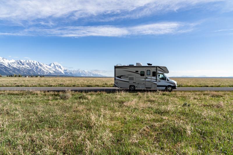 RV at the Grand Tetons