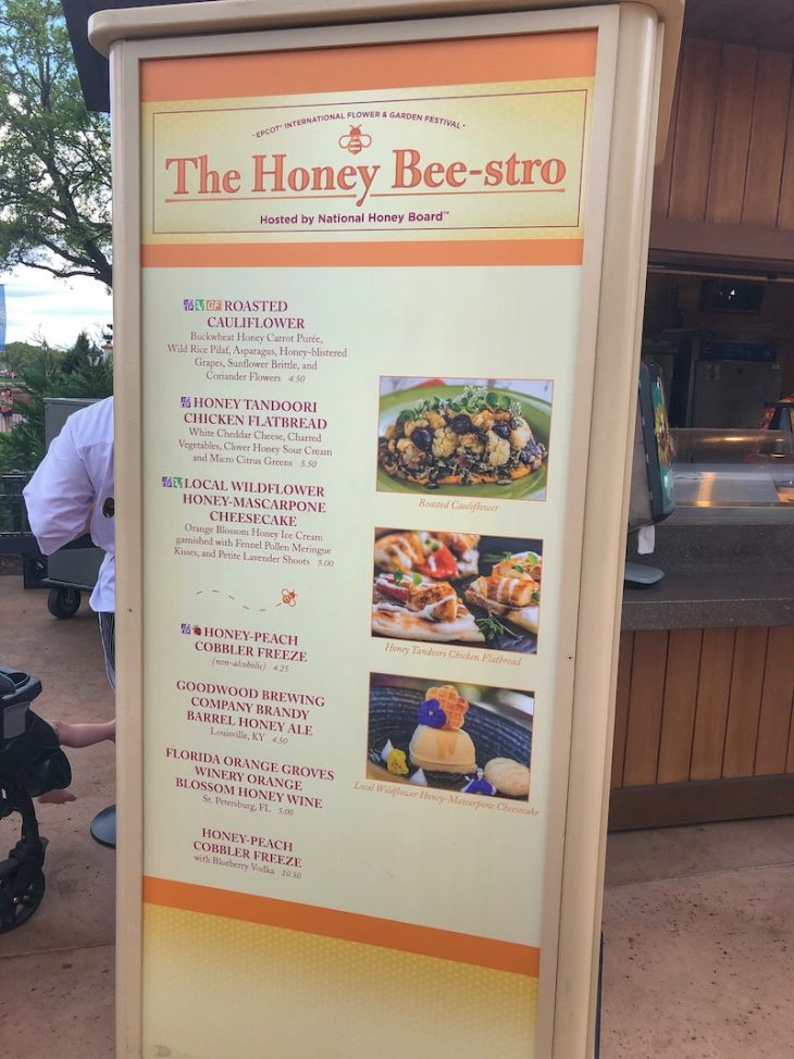 Honey Beestro Outdoor Kitchen Menu