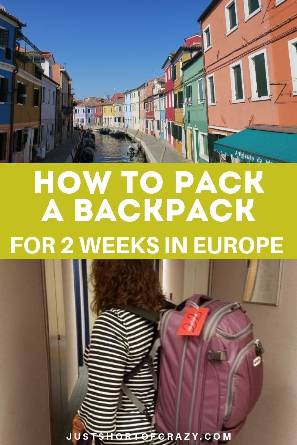 How To Pack A Backpack for europe