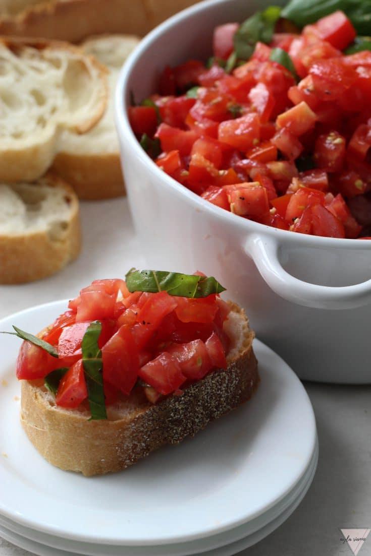 Authentic Homemade Tomato Bruschetta