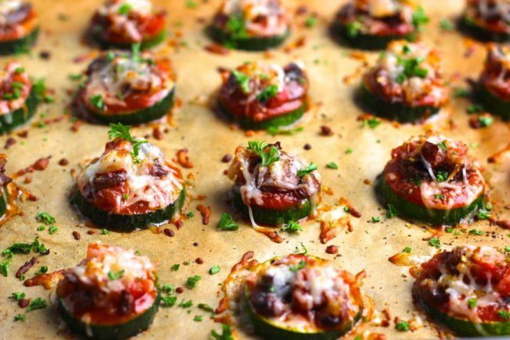 Vegan Zucchini Pizza Bites