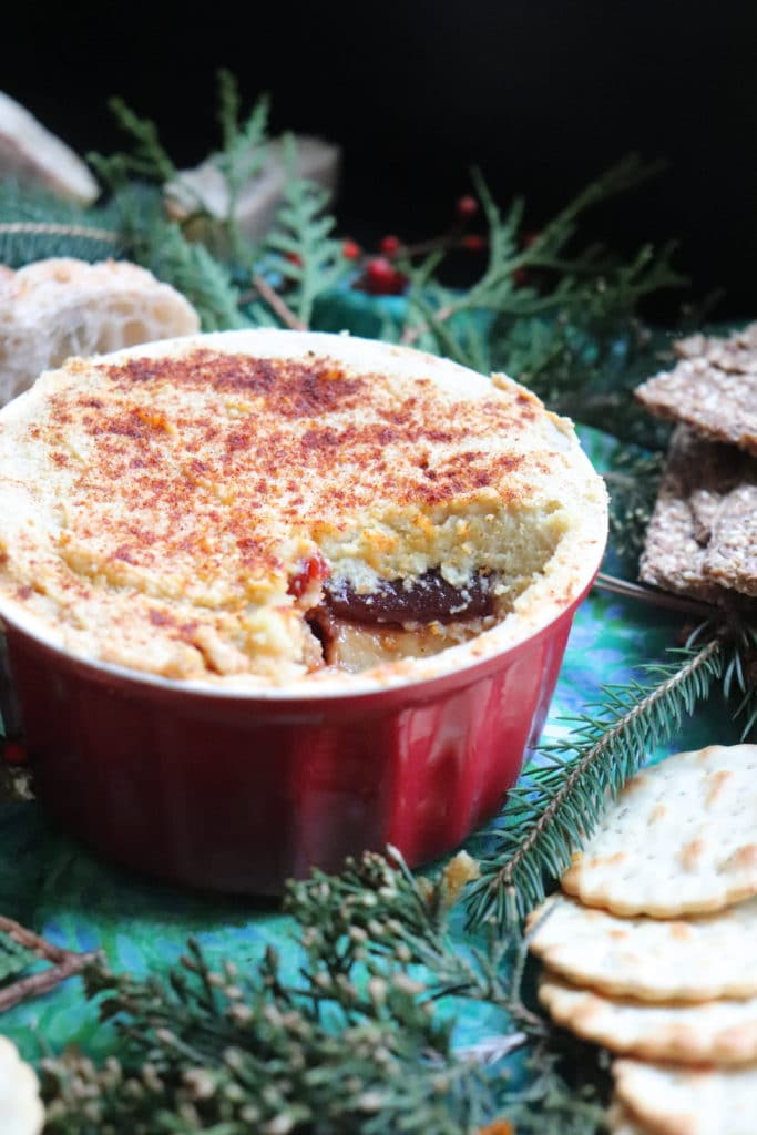 Holiday Baked Vegan Cheese with Guava Swirl